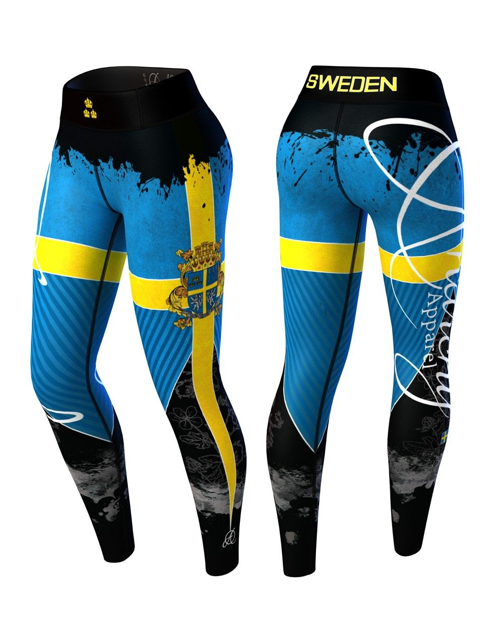Anarchy Nation Pictures anarchy sweden nation legging 3.0 (blue/yellow)