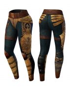 Anarchy Victorian Compression Legging (Blue/Brown)