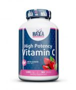 Haya Labs High Potency Vitamin C with Rose Hips 100 tab.